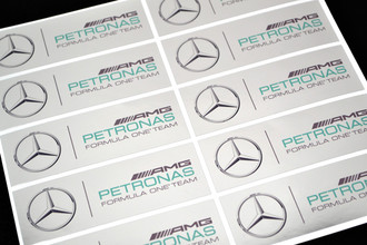 Metallic Stickers - Metallic sticker printed on chrome silver vinyl | www.stickersinternational.co.uk